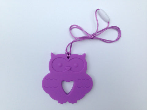 Purple Silicone Owl Teether