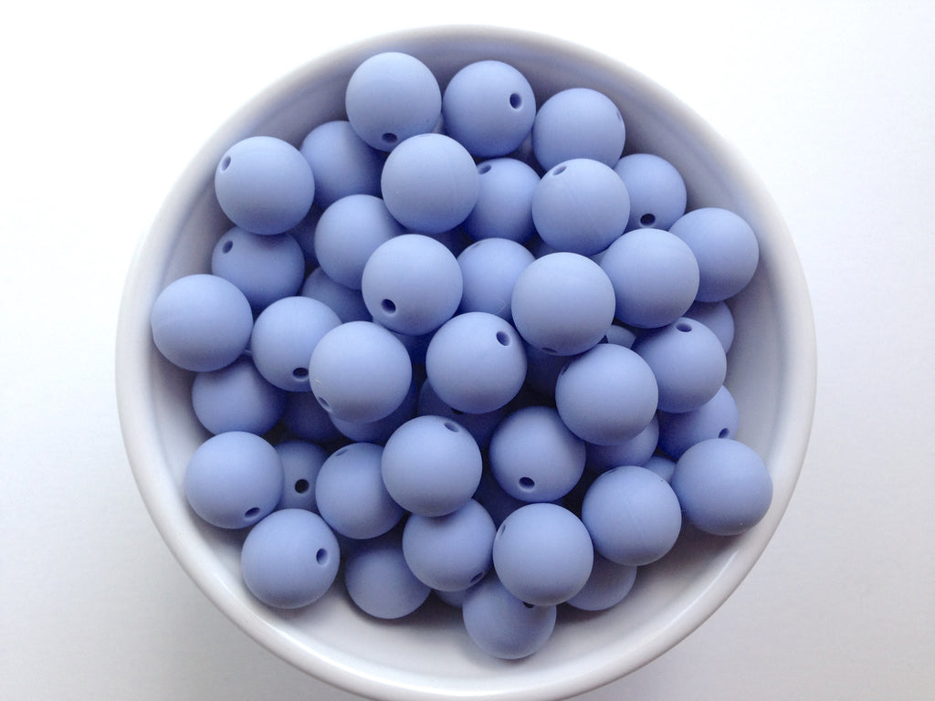 15mm Tranquility Blue Silicone Beads
