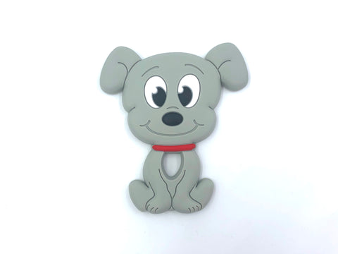 New! Light Gray Puppy Dog Teether