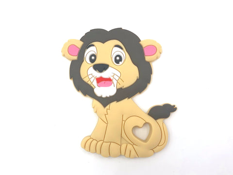 Brown Lion Silicone Teether