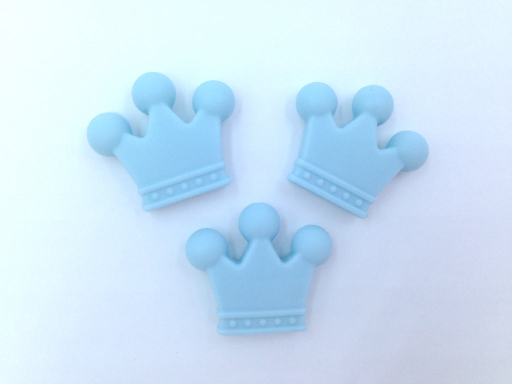 Light Blue Crown Beads