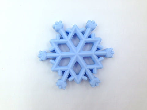 Blue Snowflake Silicone Teether