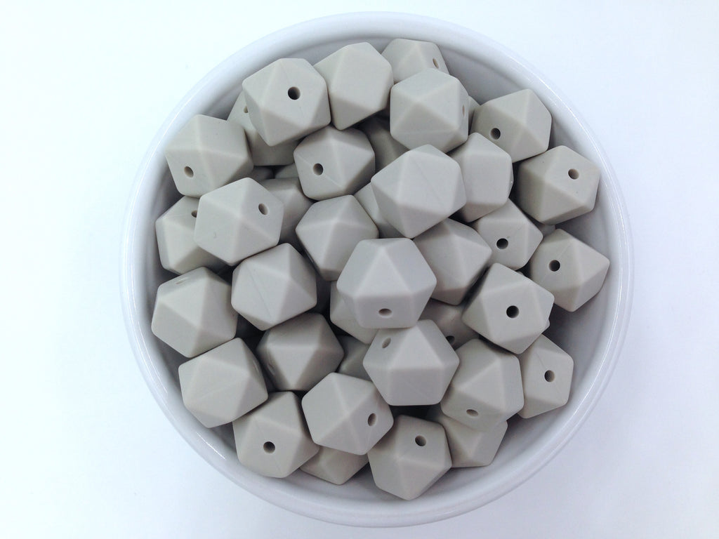 14mm Riverstone Mini Hexagon Silicone Beads