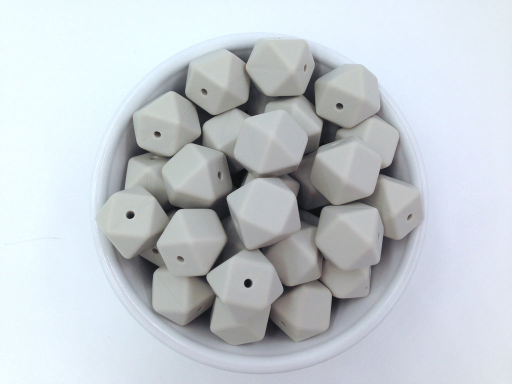 Riverstone Hexagon Silicone Beads