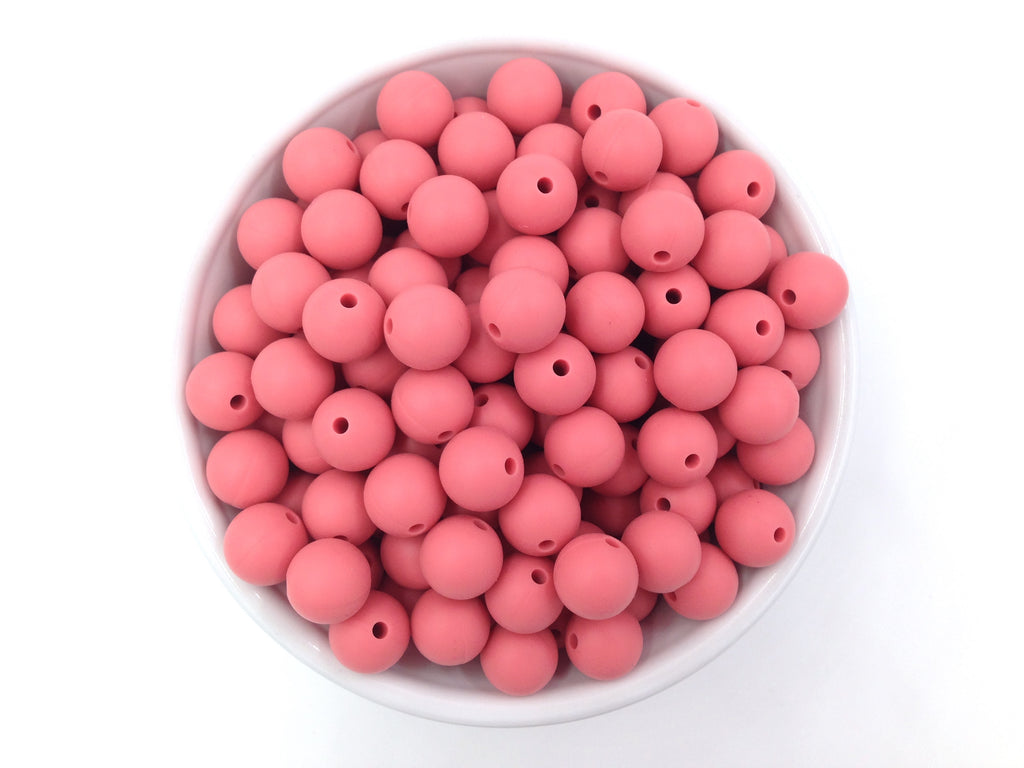 12mm Strawberry Ice Silicone Beads