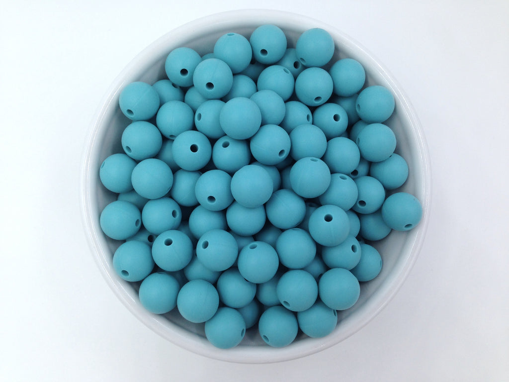 12mm Seaside Silicone Beads
