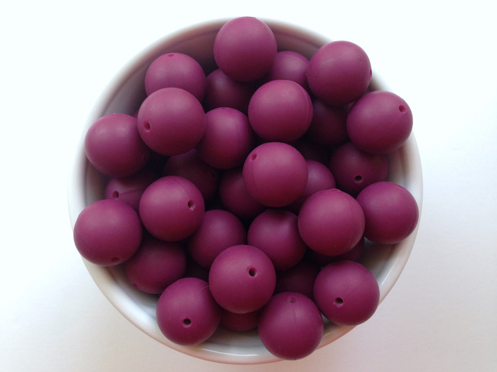 19mm Wine Silicone Teething Beads