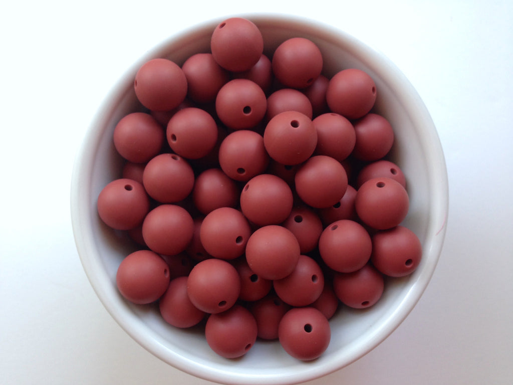 15mm Velvet Clay Silicone Beads