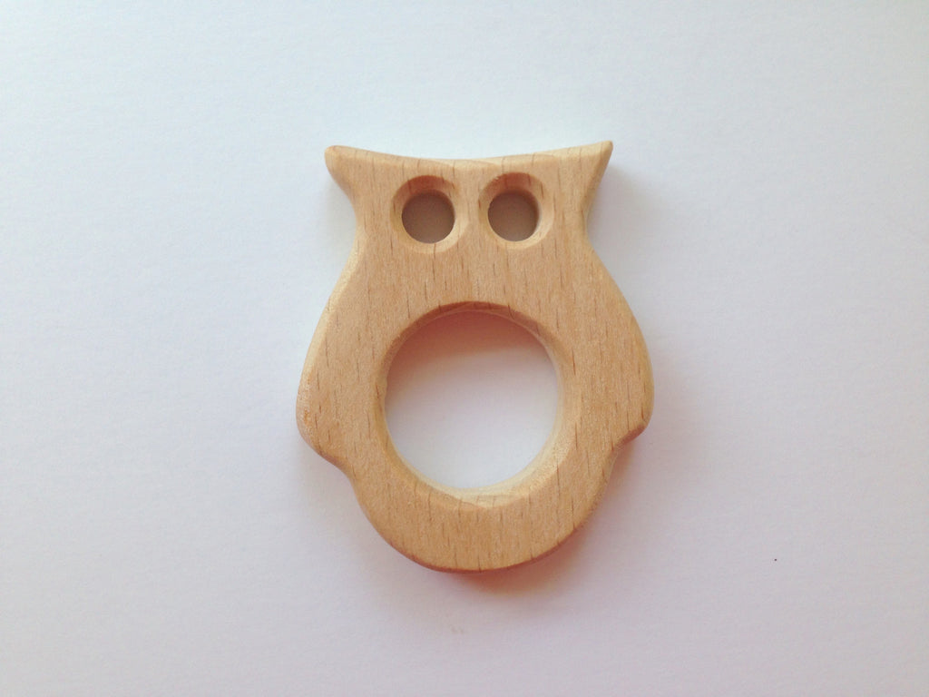 Owl Natural Wood Teether