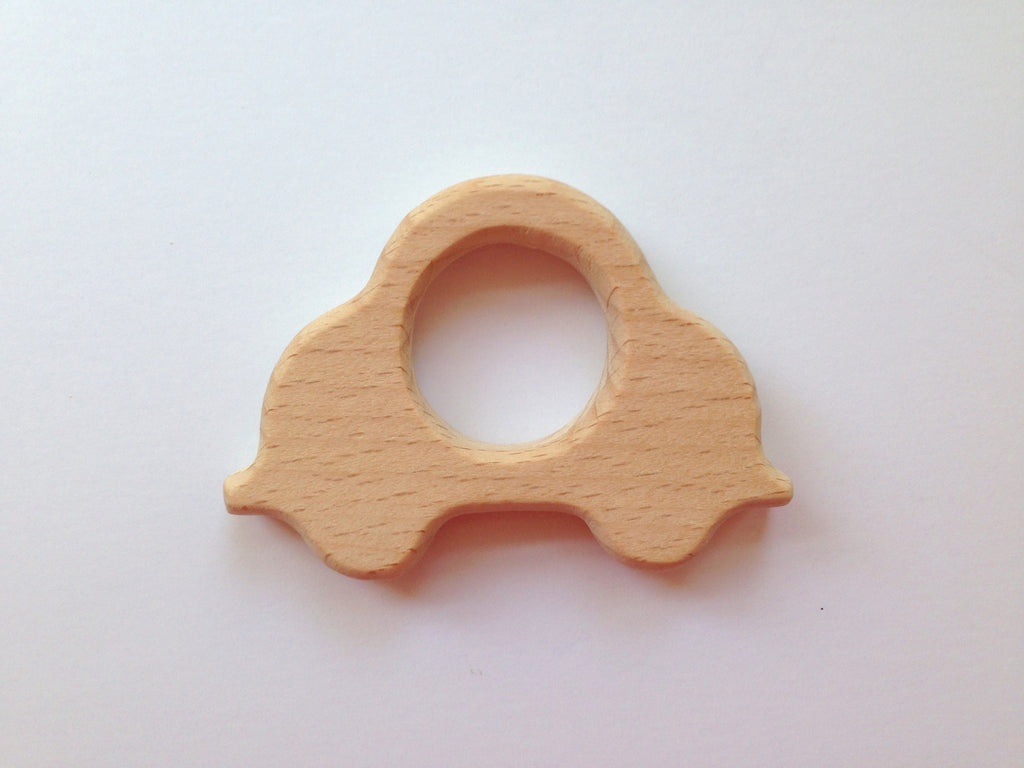 Car Natural Wood Teether