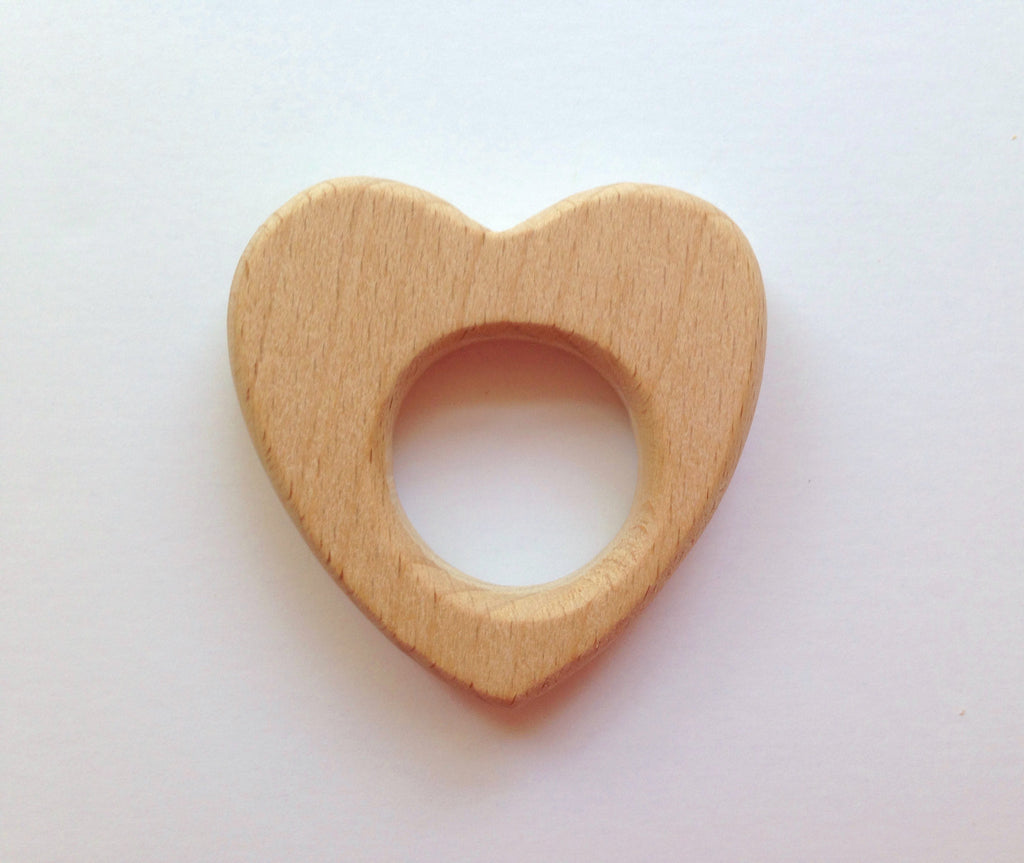 Heart Natural Wood Teether