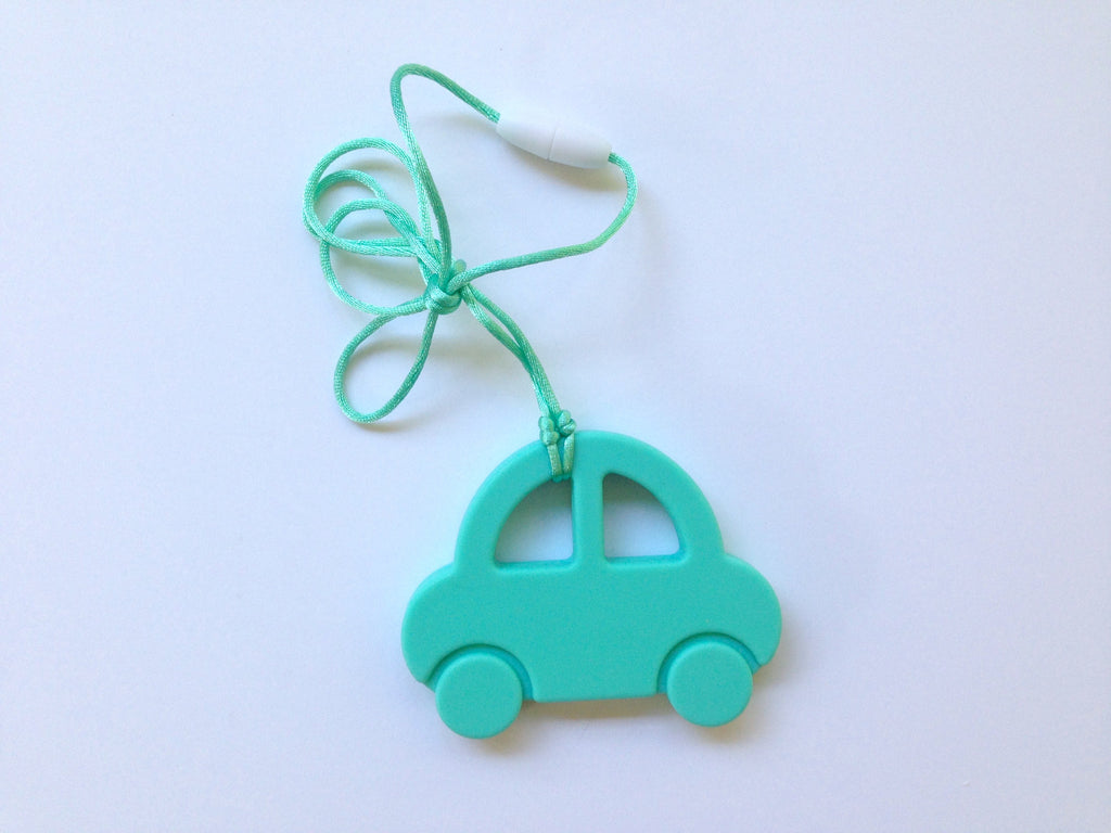Light Turquoise Car Silicone Teether