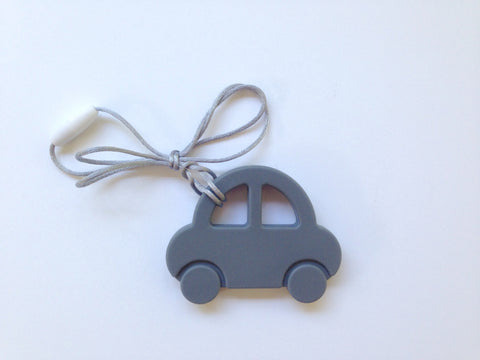 Gray Car Silicone Teether