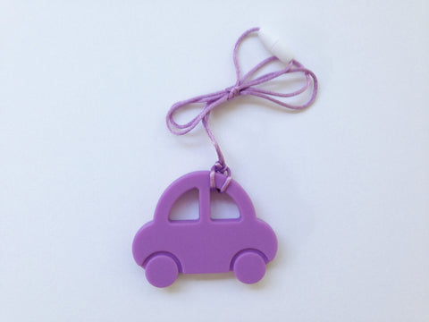 Purple Car Silicone Teether
