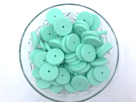 NEW!  25mm Mint Coin Silicone Beads