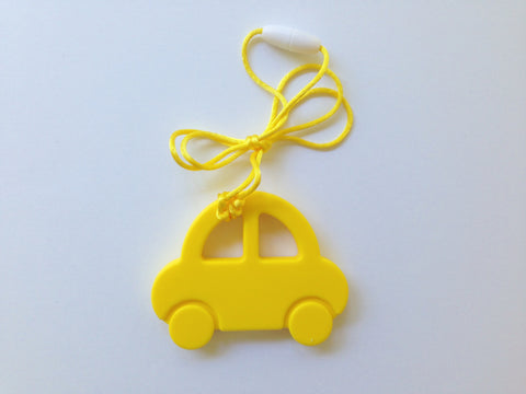 Yellow Car Silicone Teether
