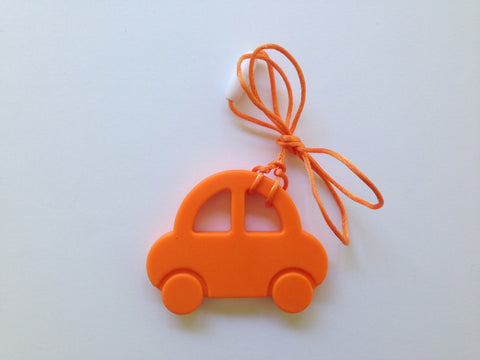 Orange Car Silicone Teether