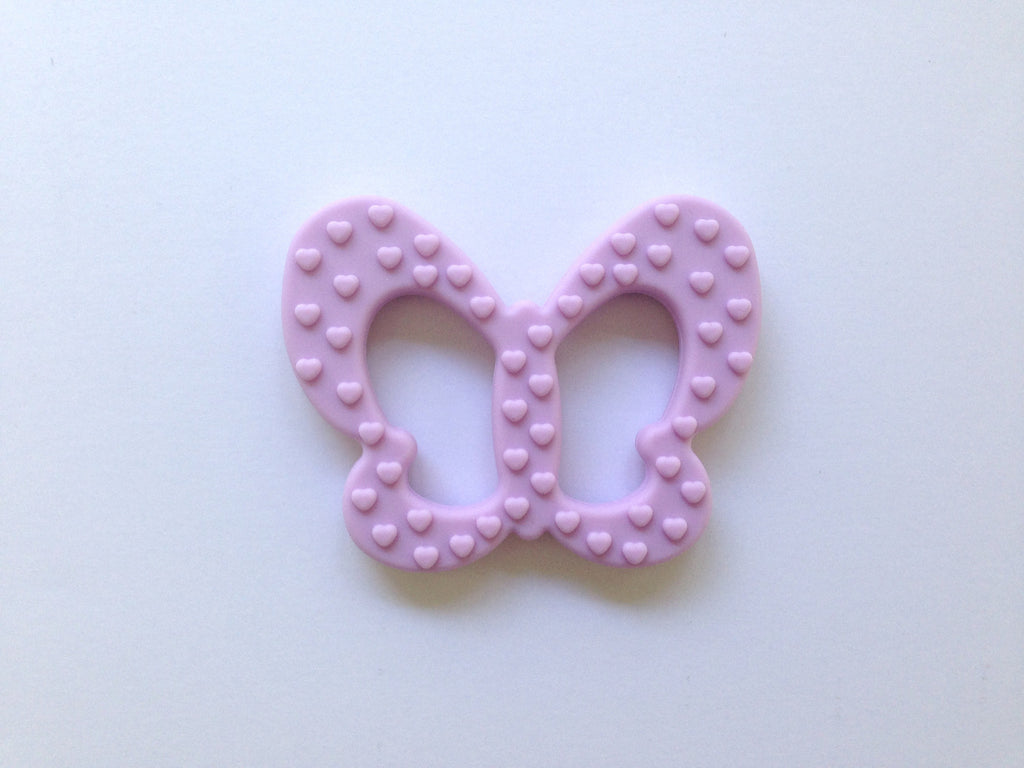 Sweet Lilac Butterfly Silicone Teether