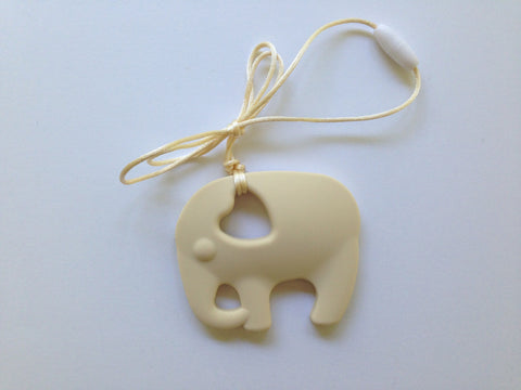 Beige Elephant Silicone Teether