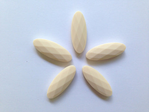 Beige Marquise Silicone Teething Beads