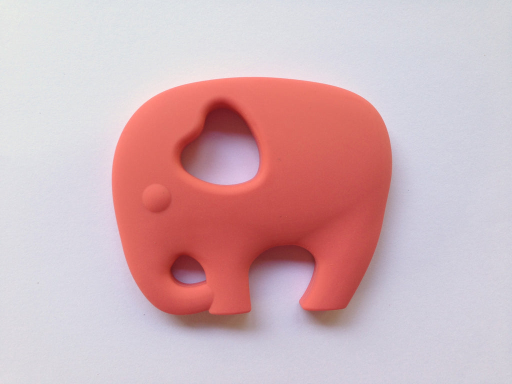 Coral Elephant Silicone Teether