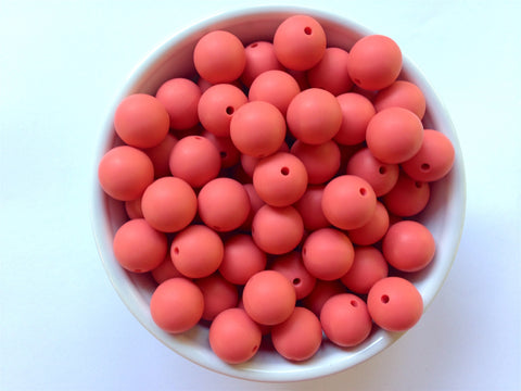 15mm Coral Silicone Beads