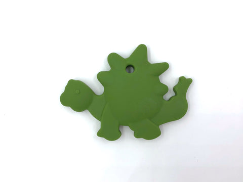 Army Green Dinosaur Silicone Teether