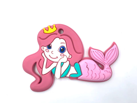 Pink Mermaid Silicone Teether