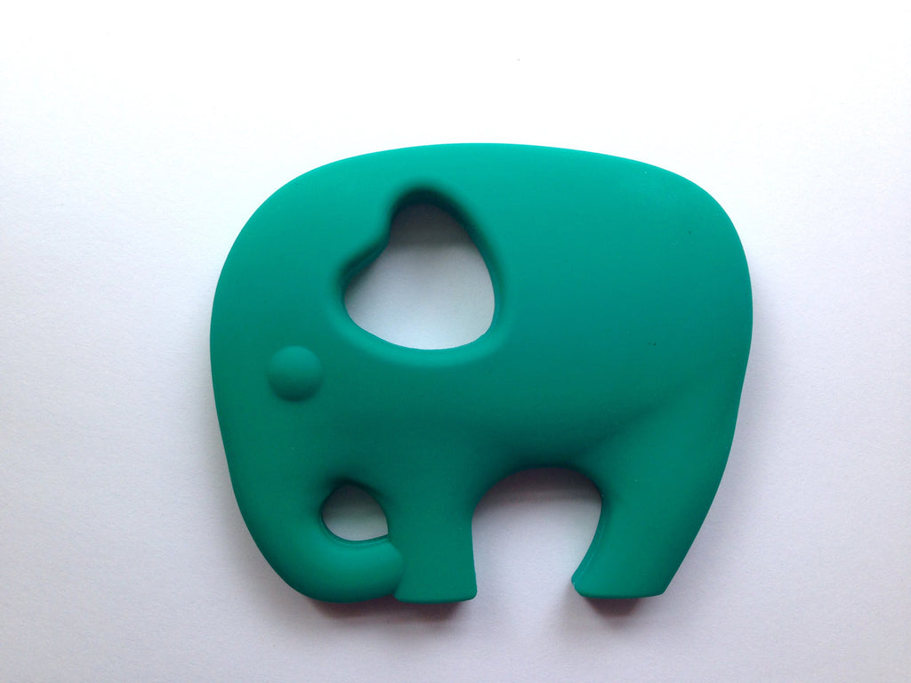Emerald Green Elephant Silicone Teether