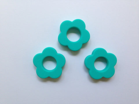 Turquoise Silicone Flower Pendant