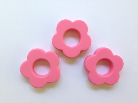 Perfectly Pink Silicone Flower Pendant