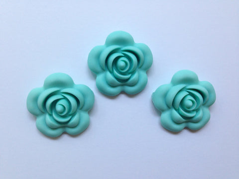 40mm Cool Caribbean Silicone Flower Bead