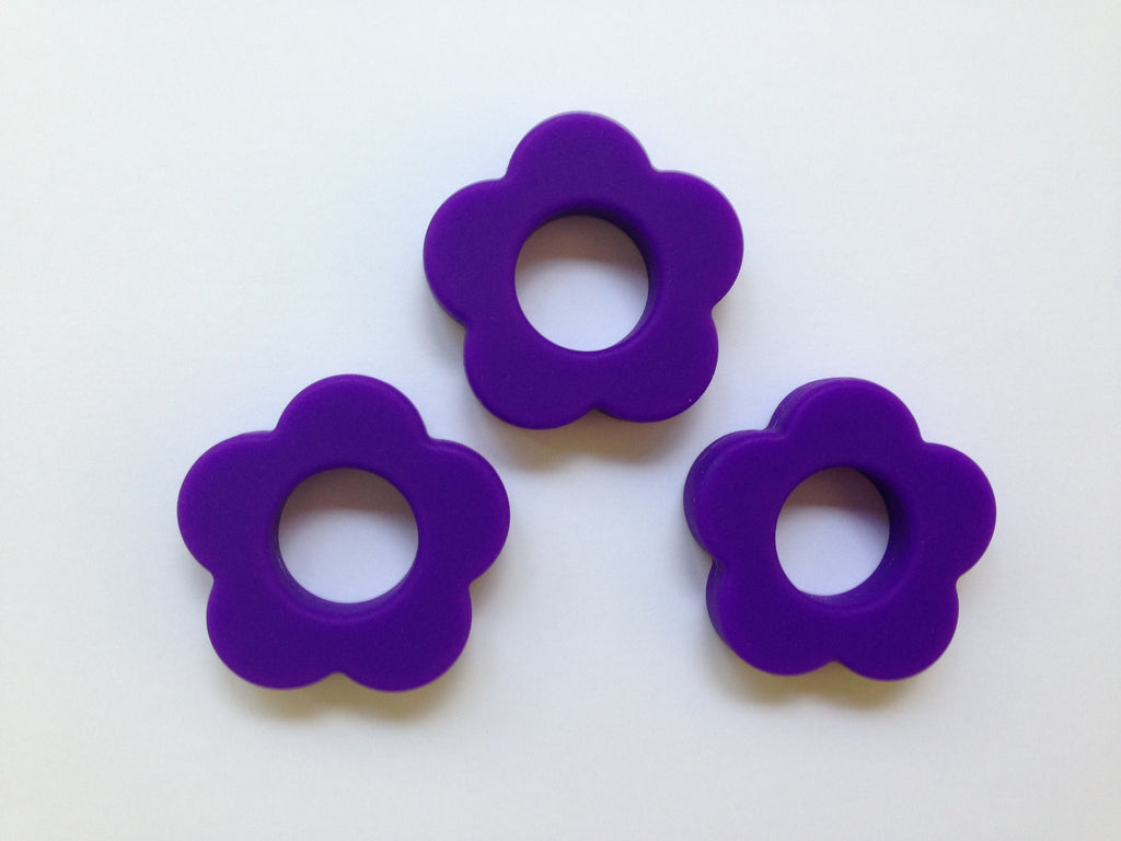 Purple Passion Silicone Flower Pendant