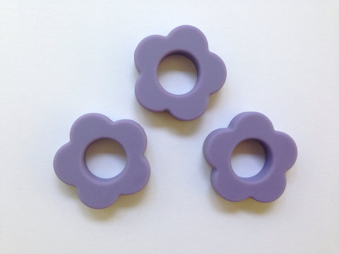 Tropical Lilac Silicone Flower Pendant