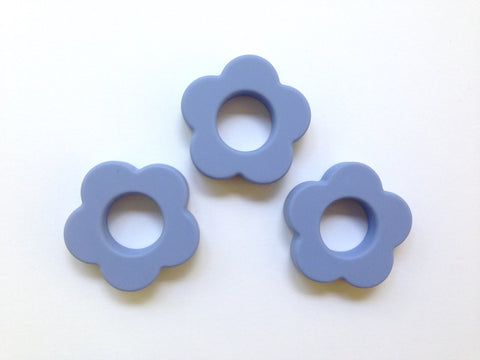 Tranquility Blue Silicone Flower Pendant