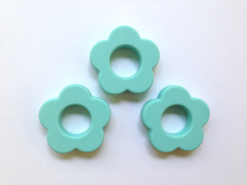 Cool Caribbean Silicone Flower Pendant