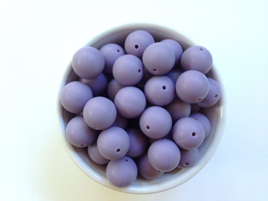 19mm Tropical Lilac Silicone Beads