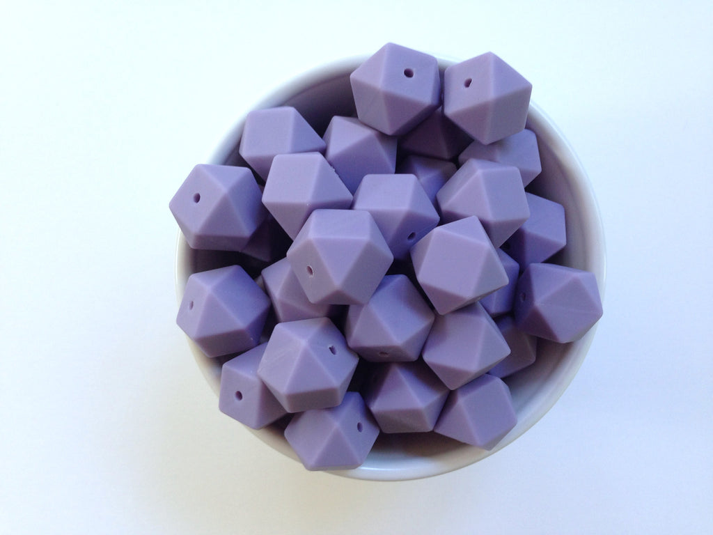 Tropical Lilac Hexagon Silicone Beads