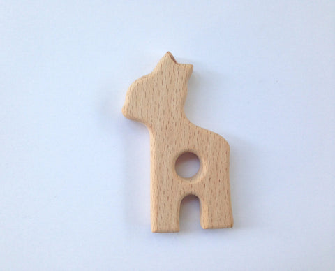 Deer Natural Wood Teether