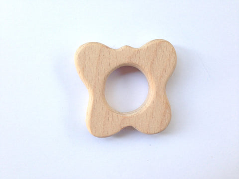Butterfly Natural Wood Teether