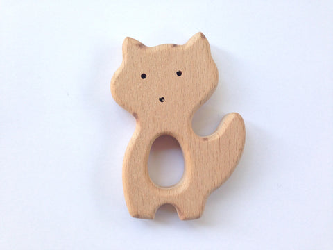 Fox Natural Wood Teether