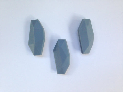 Gray Salix Leaf Silicone Beads