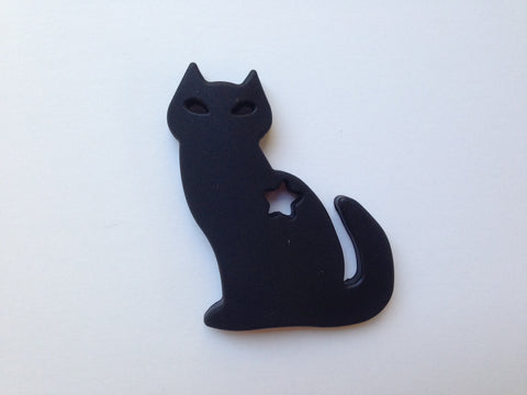 Black Cat Silicone Teether