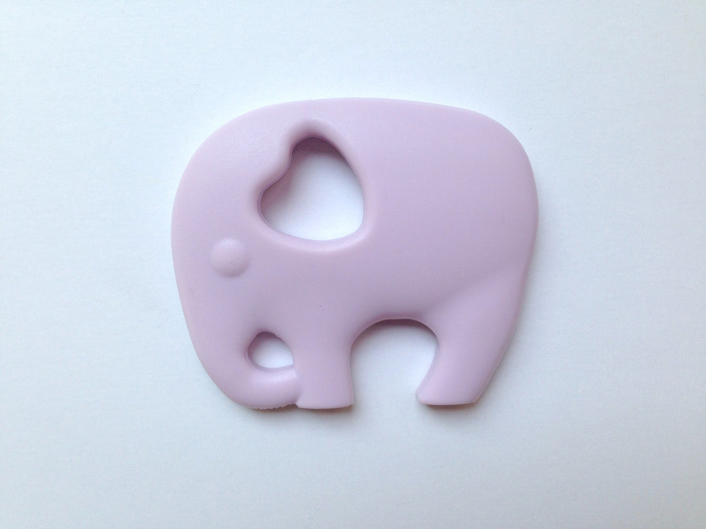 Lilac Elephant Silicone Teether