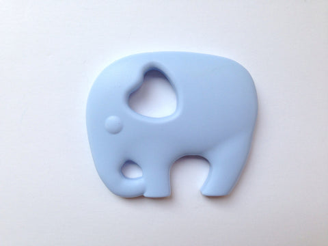Baby Blue Elephant Silicone Teether
