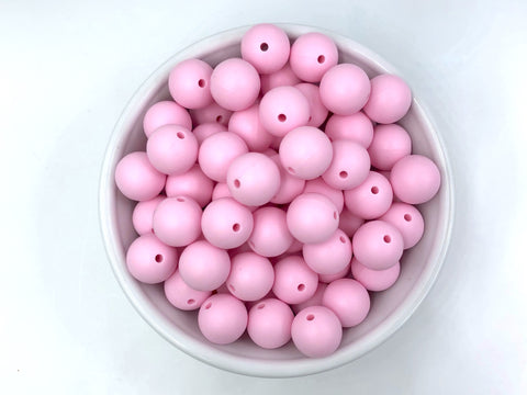 15mm Baby Pink Silicone Beads