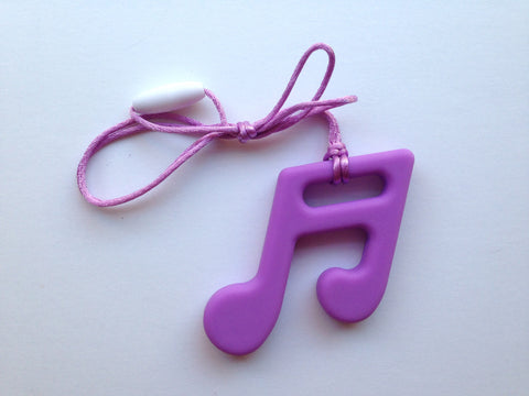 Lavender Purple Silicone Music Note Teether