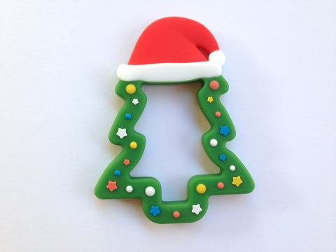 Green Christmas Tree Silicone Teether
