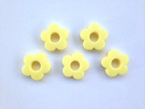 Light Yellow Mini Silicone Flower Beads