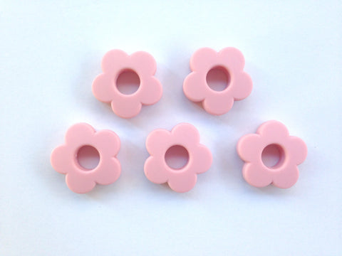 Soft Pink Mini Silicone Flower Beads